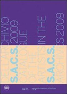 Catalogo artisti archivio S.A.C.S. 2009