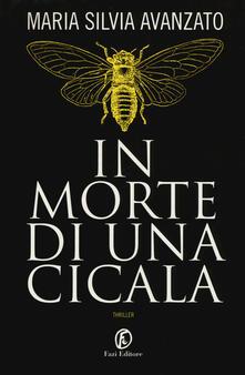 In morte di una cicala - Maria Silvia Avanzato - copertina