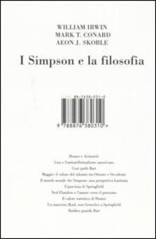I Simpson e la filosofia - William Irwin,Mark T. Conard,Aeon J. Skoble - copertina