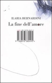 La fine dell'amore - Ilaria Bernardini - copertina