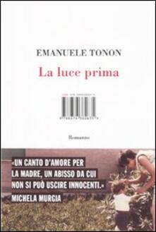 La luce prima - Emanuele Tonon - copertina