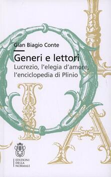Premioquesti.it Generi e lettori. Lucrezio, l'elegia d'amore, l'enciclopedia di Plinio Image