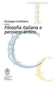 Filosofia italiana e pensiero antico