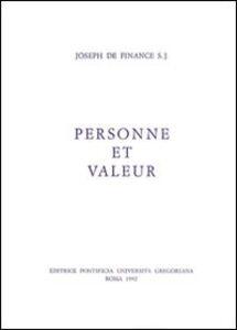 Personne et valeur