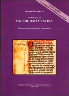 Antondemarirreguera.es Ejercicios de paleografia latina. Láminas, transcripciones y comentarios in italiano e castigliano. Con CD-ROM Image