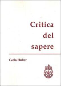 Critica del sapere