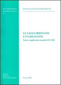 Le leggi irritanti e inabilitanti. Natura e applicazione secondo il CIC 1983
