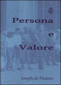 Persona e valore