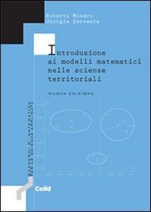 Introduzione ai modelli matematici nelle scienze territoriali