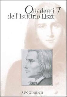 Daddyswing.es Quaderni dell'Istituto Liszt. Vol. 7 Image