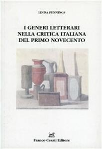 I generi letterari nella critica italiana del primo Novecento