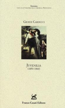 Juvenilia (1850-1860) - Giosuè Carducci - copertina