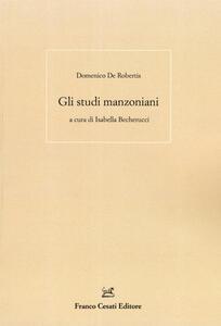 Gli studi manzoniani