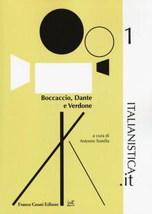 Boccaccio, Dante e Verdone - copertina