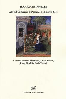 Boccaccio in versi. Atti del Convegno (Parma, 13-14 marzo 2014) - copertina