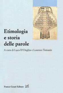 Etimologia e storia delle parole - copertina