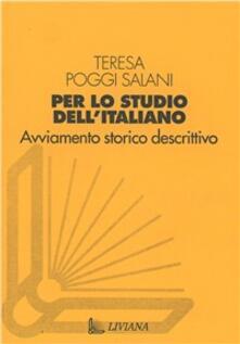 Per lo studio dell'italiano - Teresa Poggi Salani - copertina