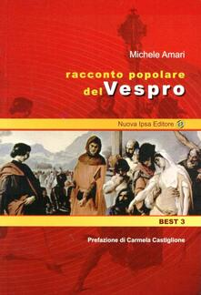 Racconto popolare del vespro siciliano - Michele Amari - copertina
