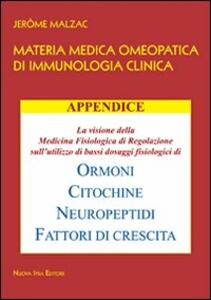 Materia medica omeopatica di immunologia clinica. Appendice