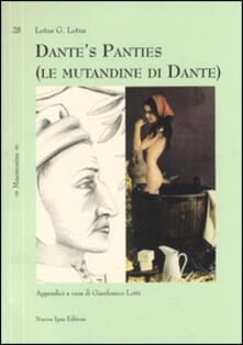Dante's panties (le mutandine di Dante) - Lotus G. Lotus - copertina