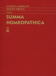 Summa homeopathica - Maurizio Annibalini,Donato Virgilio - copertina