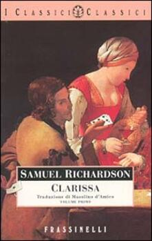 Clarissa. Vol. 1 - Samuel Richardson - copertina