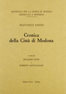 Cronica della città di Modona - Francesco Panini - copertina