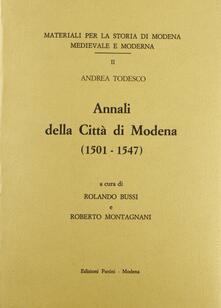 Annali della città di Modena (1501-1547) - Andrea Todesco - copertina