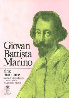 Rime marittime - Giambattista Marino - copertina