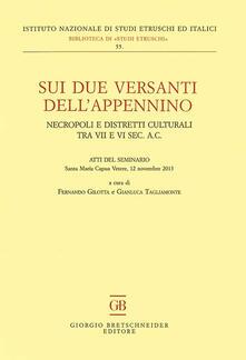 Sui due versanti dell'Appennino. Necropoli e distretti culturali tra VII e VI sec. a.C. Atti del seminario (Santa Maria Capua Vetere, 12 novembre 2013) - copertina