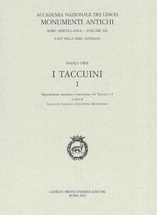 I taccuini. Vol. 1: Copia anastatica e trascrizione dei taccuini 1-4. - Paolo Orsi - copertina