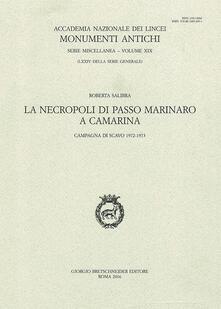La necropoli di passo marinaro a Camarina. Campagna di scavo 1972-1973 - Roberta Salibra - copertina