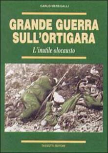 Grande guerra sull'Ortigara - Carlo Meregalli - copertina
