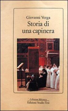 Storia di una capinera - Giovanni Verga - copertina