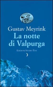 La notte di Valpurga - Gustav Meyrink - copertina