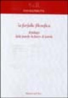 La farfalla filosofica. Il pelago delle parole in furor di parole - Raffaele Perrotta - copertina