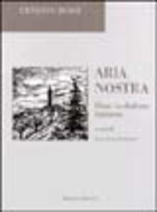 Aria nostra. Rime in dialetto fubinese - Ernesto Rossi - copertina