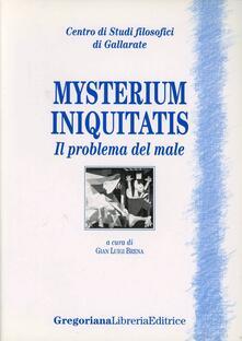 Mysterium iniquitatis. Il problema del male - copertina