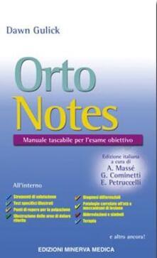 Listadelpopolo.it Orto notes. Manuale tascabile per l'esame obiettivo Image