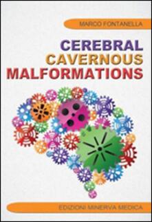 Cerebral cavernous malformations - Marco Fontanella - copertina