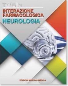 Tabella interazione farmacologica. Neurologia - copertina