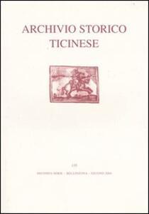Archivio storico ticinese. Vol. 135