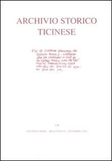 Archivio storico ticinese. Vol. 138: Seconda serie. Dicembre 2005..pdf