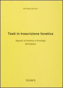 Amatigota.it Testi in trascrizione fonetica. Appunti di fonetica e fonologia dell'italiano Image
