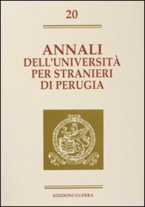 Annali dell'Università per stranieri di Perugia. Semestre gennaio-giugno 1994. Vol. 20