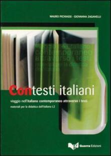 Lpgcsostenible.es Contesti italiani. Viaggio nell'italiano contemporaneo attraverso i testi Image