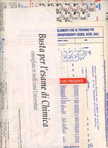La busta per l'esame di chimica. Con tavola del sistema periodico degli elementi e vari formulari