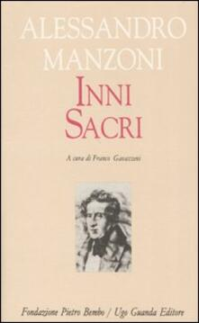 Inni sacri - Alessandro Manzoni - copertina