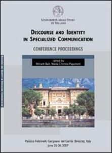 Discourse and identity in specialized communication Conference proceedings