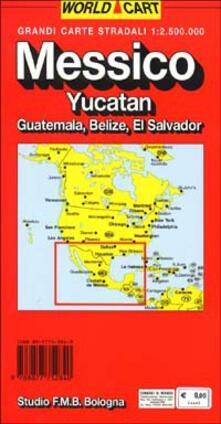 Steamcon.it Messico. Yucatan. Guatemala. Belize. El Salvador 1:2.500.000 Image